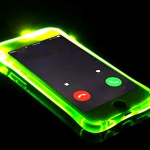 Green Iphone Light up Case, 7+, 8+